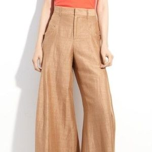 Wide leg trouser pants